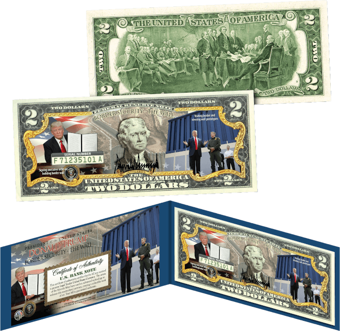 Trump Border Security $2 Bill