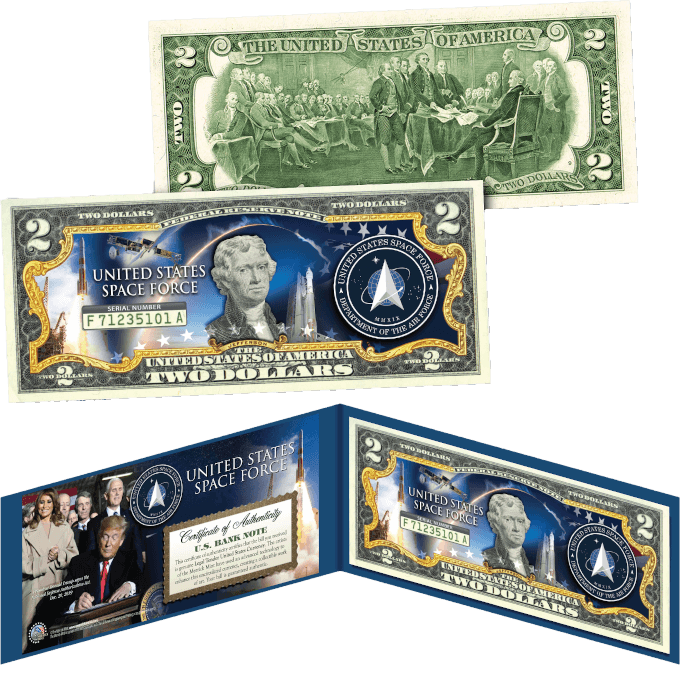 Space Force 2 Dollar Bill