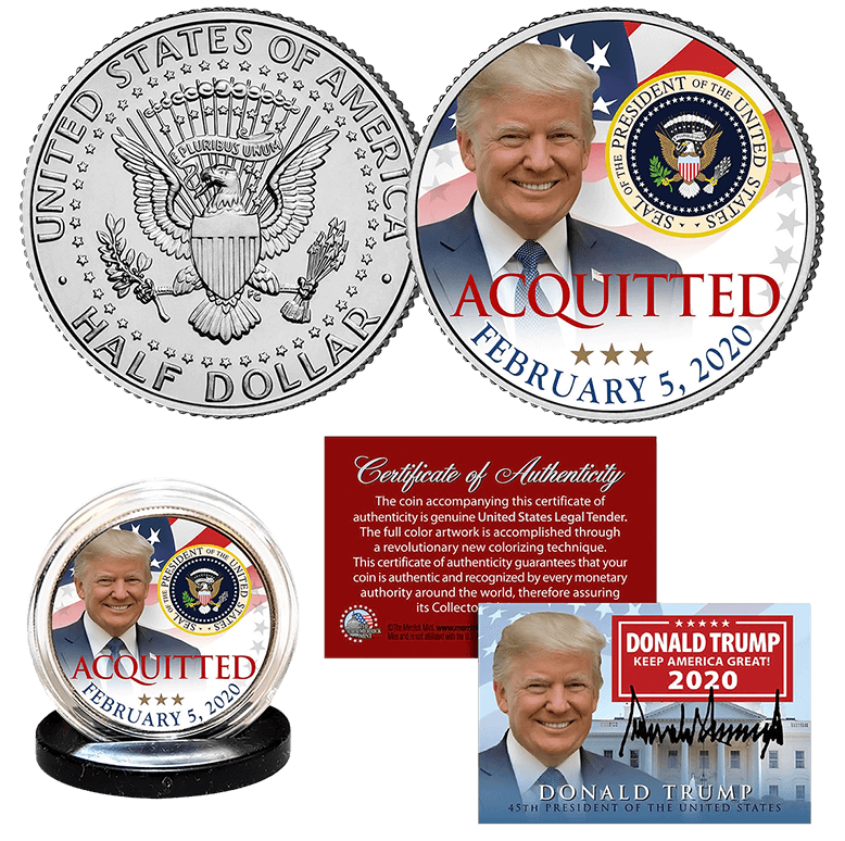 Trump Acquittal Collector Coin