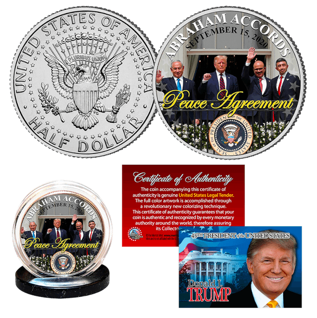 Trump Abraham Accords Peace Coin