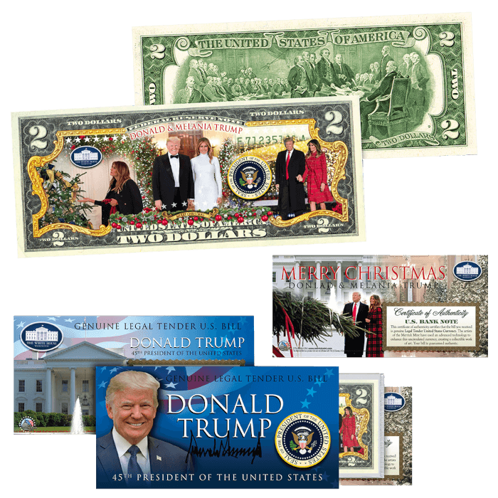 Trump 2020 Christmas 2 Dollar Bill