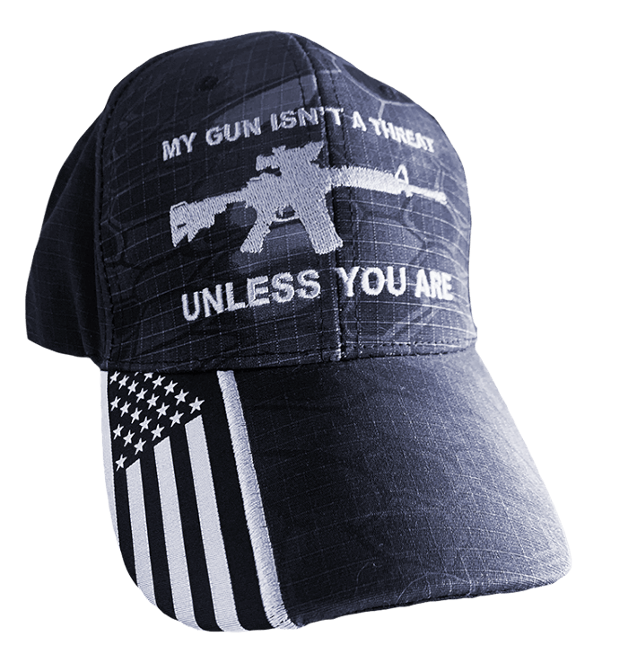 My gun isn't a threat 2A hat