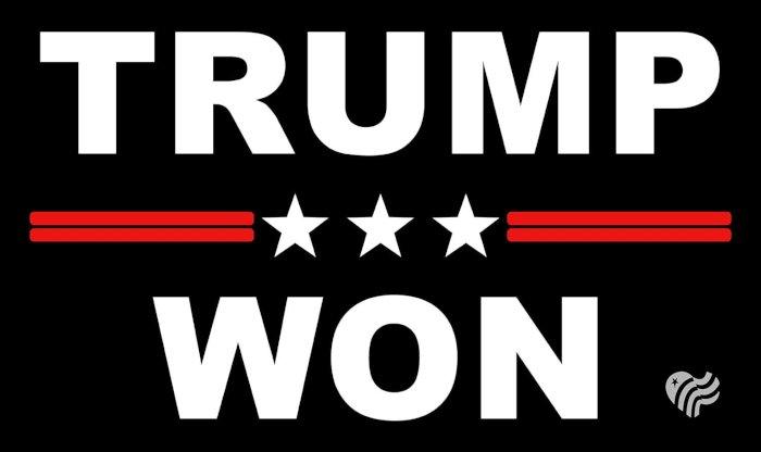 Trump Won Decal